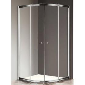 Душевой уголок Cezares Giubileo R-2 100х100 профиль хром, стекло прозрачное