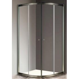 Душевой уголок Cezares Giubileo R-2 80х80 профиль бронза, стекло прозрачное