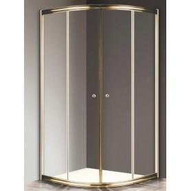 Душевой уголок Cezares Giubileo R-2 80х80 профиль золото, стекло прозрачное