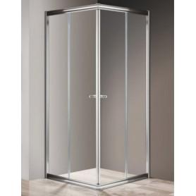 Душевой уголок Cezares Giubileo A-2 100х100 профиль хром, стекло прозрачное