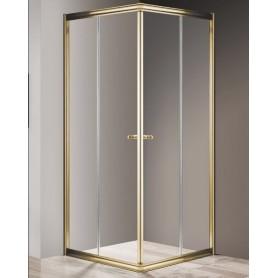 Душевой уголок Cezares Giubileo A-2 90х90 профиль золото, стекло прозрачное