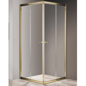 Душевой уголок Cezares Giubileo A-2 100х100 профиль золото, стекло прозрачное