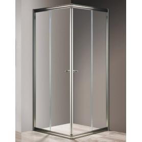 Душевой уголок Cezares Giubileo A-2 80х80 профиль бронза, стекло прозрачное