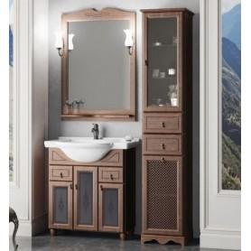 Мебель для ванной Опадирис Тибет 70 цвет орех, витраж стекло