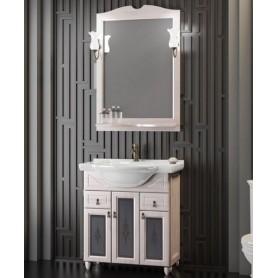 Мебель для ванной Опадирис Тибет 70 цвет орех белый, витраж стекло