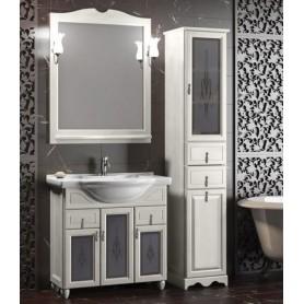 Мебель для ванной Опадирис Тибет 80 цвет белый, витраж стекло ➦ Vanna-retro.ru