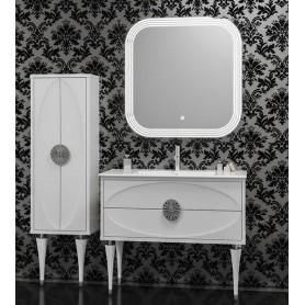 Мебель для ванной Смайл Ибица 90 цвет белый, ручки хром