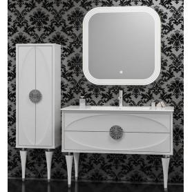Мебель для ванной Смайл Ибица 120 цвет белый, ручки хром