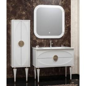 Мебель для ванной Смайл Ибица 90 цвет белый, ручки золото ➦ Vanna-retro.ru
