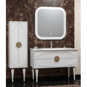 Мебель для ванной Смайл Ибица 120 цвет белый, ручки золото