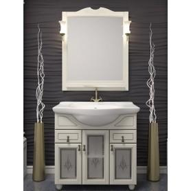 Мебель для ванной Опадирис Тибет 70 фасады стекло, цвет белый ➦ Vanna-retro.ru