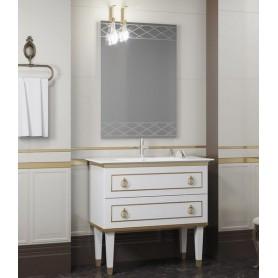 Мебель для ванной Смайл Порто 100 белый / золото -