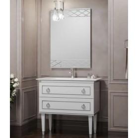 Мебель для ванной Смайл Порто 100 белый / хром
