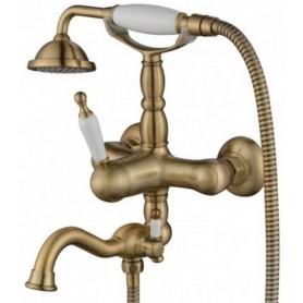 Смеситель для ванны Aksy Bagno Prestigio 701 цвет бронза ➦ Vanna-retro.ru