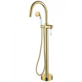 Смеситель Boheme Imperiale 289 напольный для ванны (золото)