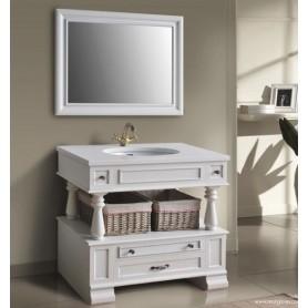Мебель для ванной Атолл Джулия 95х60 см цвет ivory (слоновая кость/серебро)