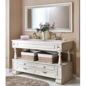Мебель для ванной Атолл Джулия 157х60 см цвет Dorato (слоновая кость/золото)