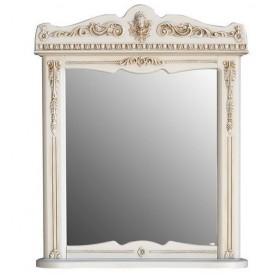 Зеркало Атолл Бисмарк 82х103 слоновая кость / патина золото ➦ Vanna-retro.ru