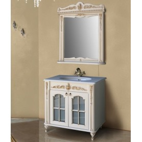 Мебель для ванной Атолл Бисмарк 85х53 см цвет слоновая кость / патина золото