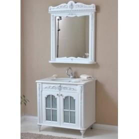Мебель для ванной Атолл Бисмарк 85х53 см цвет слоновая кость / патина серебро ➦