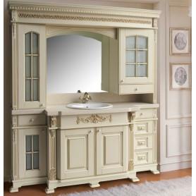 Мебель для ванной Атолл Людовик 208х55 см цвет слоновая кость / патина золото ➦