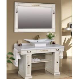 Мебель для ванной Атолл Прага 130х55 см цвет crema / патина орех ➦ Vanna-retro.ru