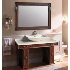 Мебель для ванной Атолл Прага 130х55 см цвет scuro / патина Луизиана ➦