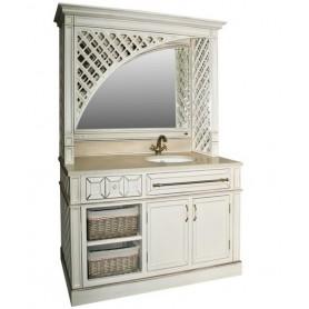 Комплект мебели Атолл Шале 166х65 см цвет Old ivory (слонова кость состаренная) ➦