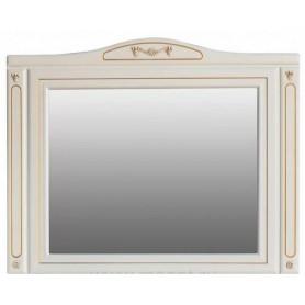 Зеркало Атолл Верона 123х97 слоновая кость / патина золото