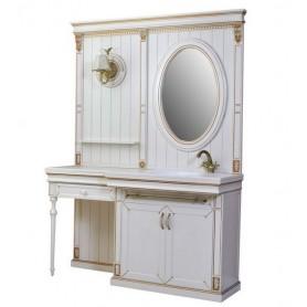 Комплект мебели Атолл Бостон 158х60 см цвет (бежевый / патина золото) ➦