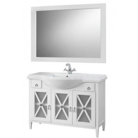 Мебель для ванной Белюкс Рояль 120 белый глянец