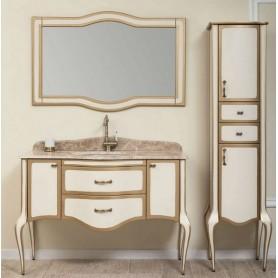 Мебель для ванной Timo Elsa M-VR 120х57 цвет слоновая кость с золотом