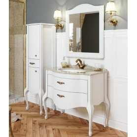 Мебель для ванной Timo Ellen Plus M-V 90х58 цвет белый
