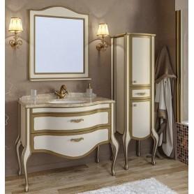 Мебель для ванной Timo Ellen Plus M-V 120х58 цвет avario (кремовый) с золотом