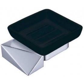 Мыльница Boheme New Venturo 10313-CR-B черная керамика ➦ Vanna-retro.ru