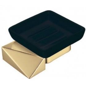 Мыльница Boheme New Venturo 10313-G-B черная керамика