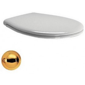 Сидение для унитаза GSI Classic MSC87N11, цвет белый, петли золото, без микролифта.