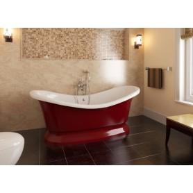Фэма Стиль Габриэлла 189х87 красная ванна из искусственного камня на подиуме