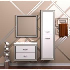 Мебель для ванной Опадирис Карат 80 цвет белый с серебром