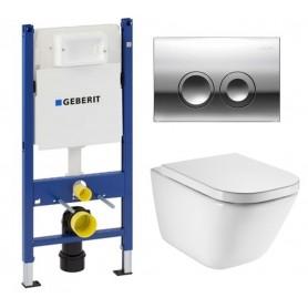 Инсталляция Geberit с унитазом Roca Gap Clean Rim 34647L000 ➦