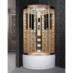 Душевая кабина Niagara 7710G золото (Lux) ➦ Vanna-retro.ru