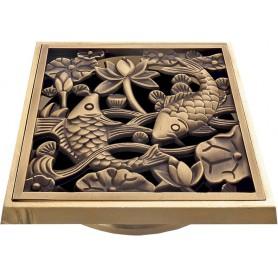 "Решетка Bronze de lux ""Рыбы"" ➦ Vanna-retro.ru"