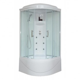 Душевая кабина Royal Bath RB 100BK3-WT 100 x100 см ➦