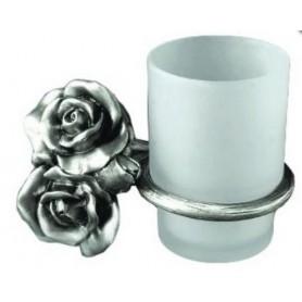 Стакан настенный Art Max Rose AM-0914-T в цвете серебро ➦ Vanna-retro.ru