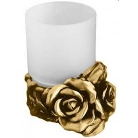Стакан настольный Art Max Rose AM-0091D-Do в цвете золото ➦ Vanna-retro.ru