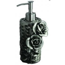 Дозатор жидкого мыла Art Max Rose AM-0091A-T в цвете серебро ➦ Vanna-retro.ru