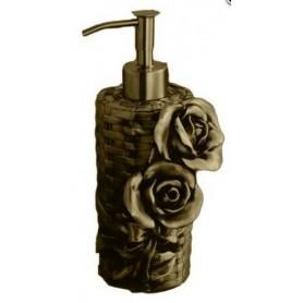 Дозатор жидкого мыла Art Max Rose AM-0091A-B в цвете бронза ➦ Vanna-retro.ru