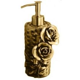 Дозатор жидкого мыла Art Max Rose AM-0091A-Do в цвете золото ➦ Vanna-retro.ru