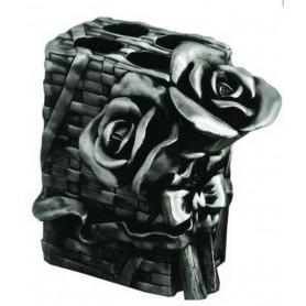 Держатель зубных щеток Art Max Rose AM-0091B-T в цвете серебро ➦ Vanna-retro.ru