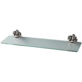 Полка стеклянная Art Max Rose AM-0913-T в цвете серебро ➦ Vanna-retro.ru